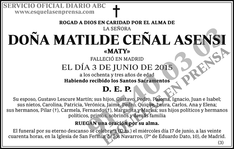 Matilde Ceñal Asensi